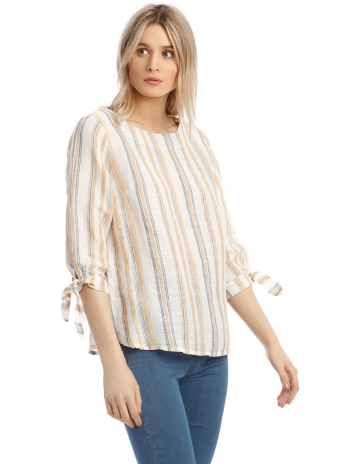 3/4 Curved Hem Woven Top image 2