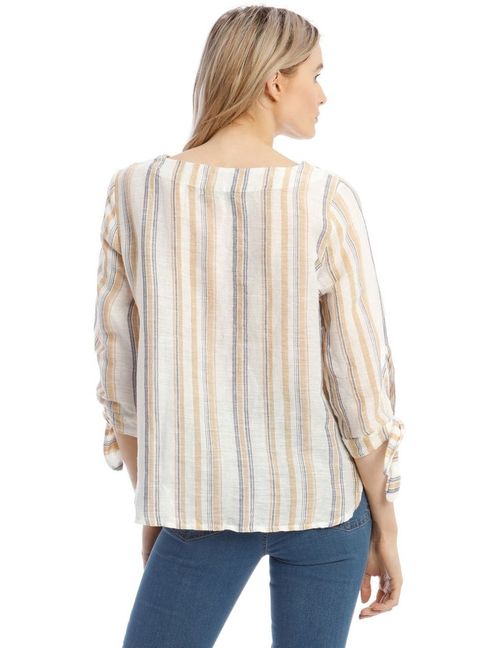 3/4 Curved Hem Woven Top image 3