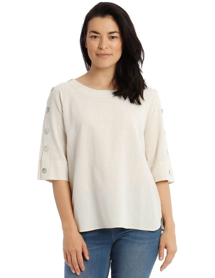 3/4 Button Sleeve Top image 1