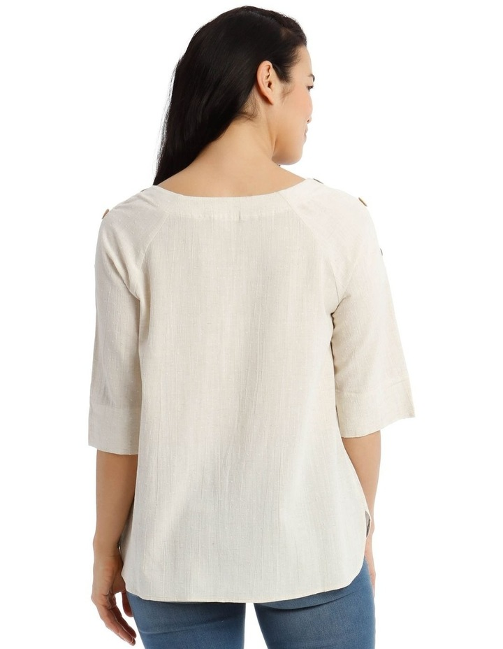 3/4 Button Sleeve Top image 3