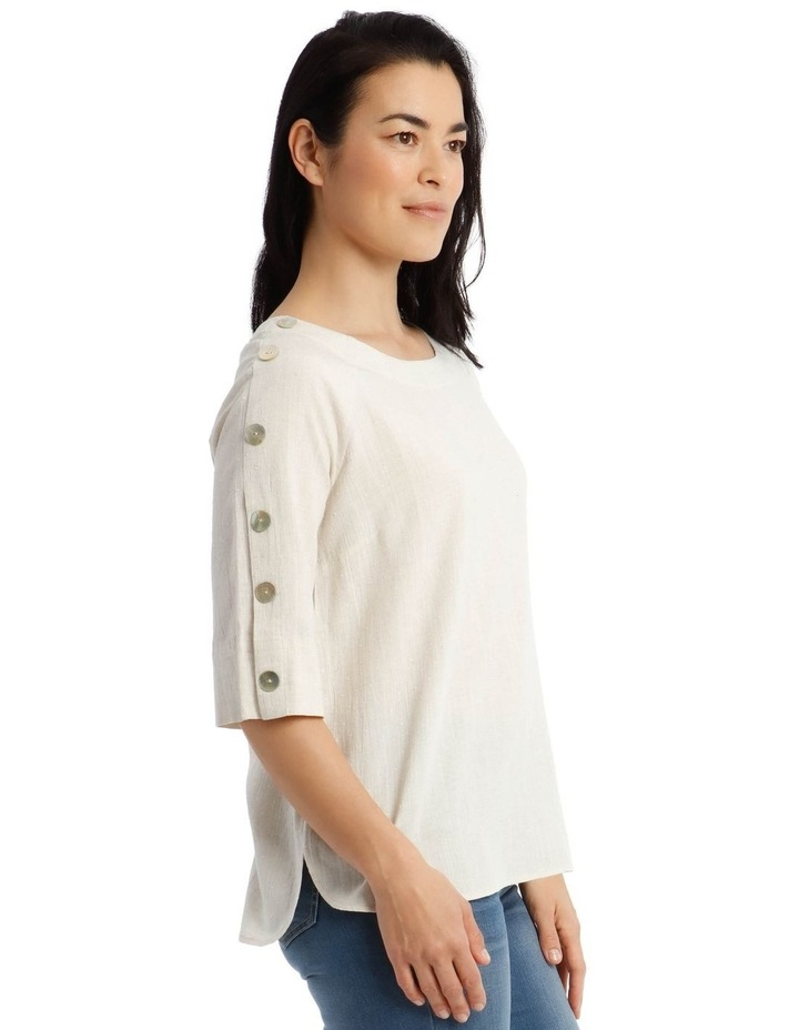 3/4 Button Sleeve Top image 4