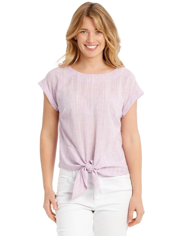 Extended Sleeve Top With Tie Front image 1