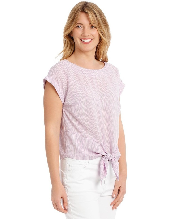Extended Sleeve Top With Tie Front image 2