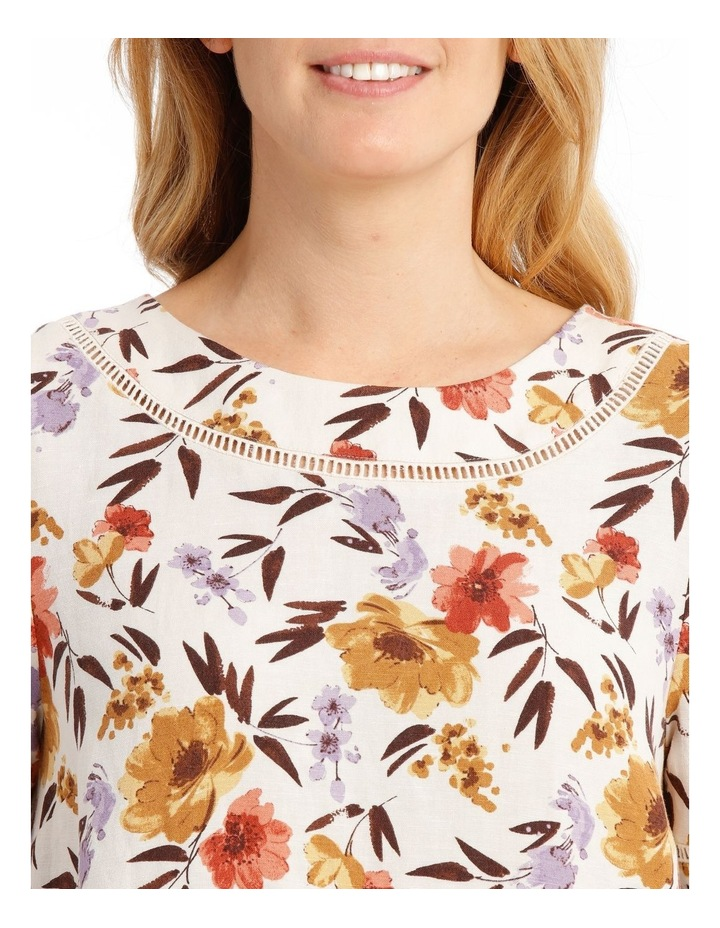 Short Sleeve Shell Top With Ladder Lace Trim image 4