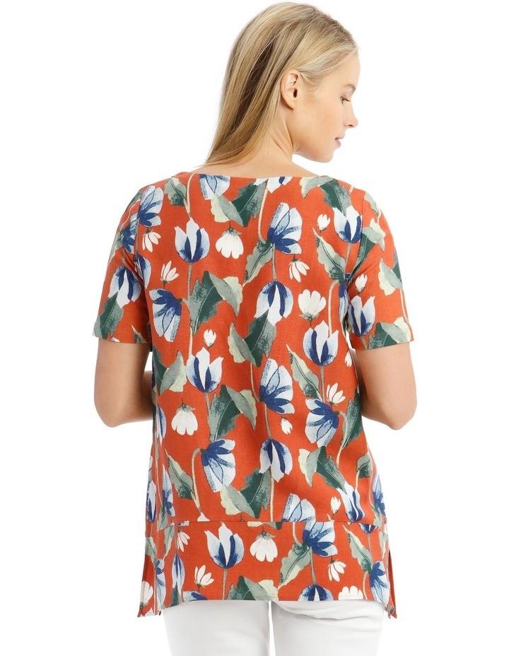 Short Sleeve Hanky Hem Top With Side Splits image 3