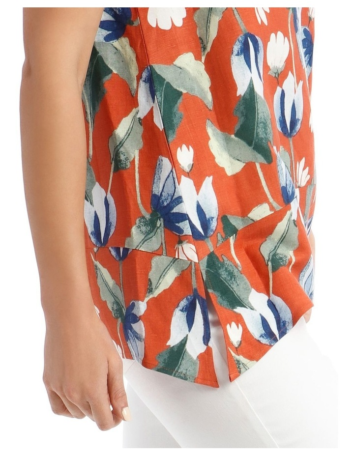 Short Sleeve Hanky Hem Top With Side Splits image 4