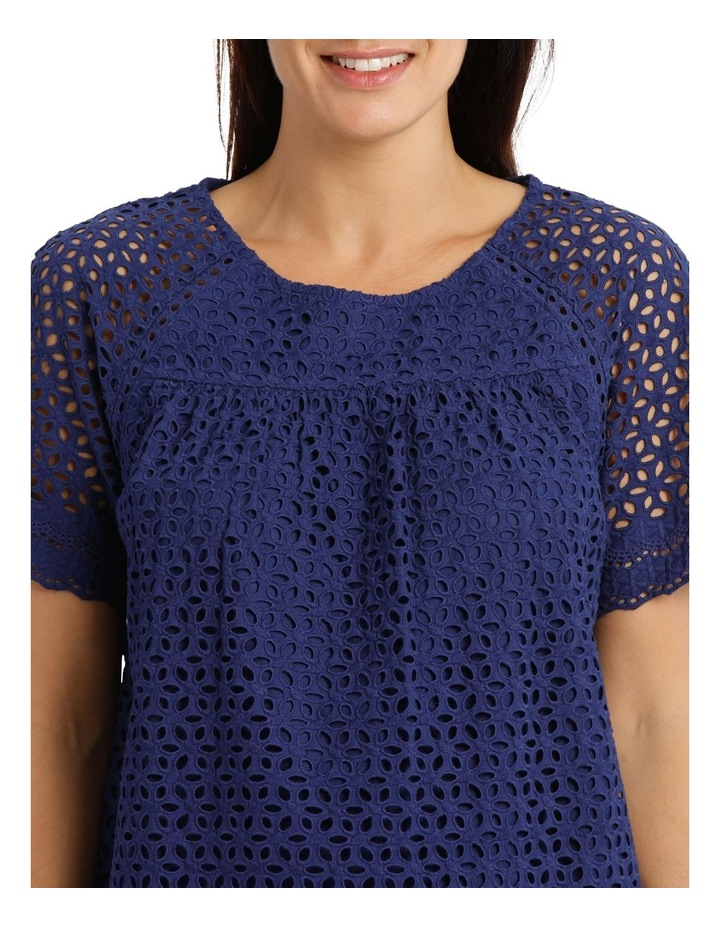 Short Sleeve Broderie Top With Yoke image 4