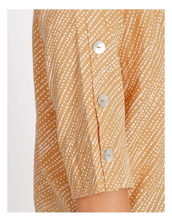 Ochre Dawn Button Sleeve Round Neck 3/4 Sleeve Top image 4