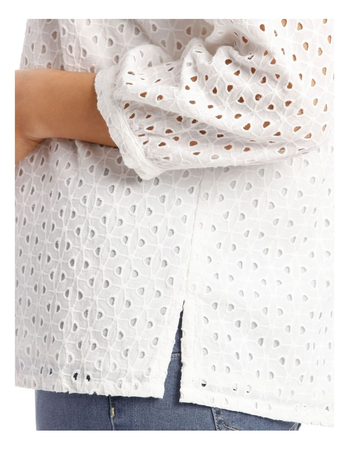 3/4 Puff Sleeve Broderie Top image 4