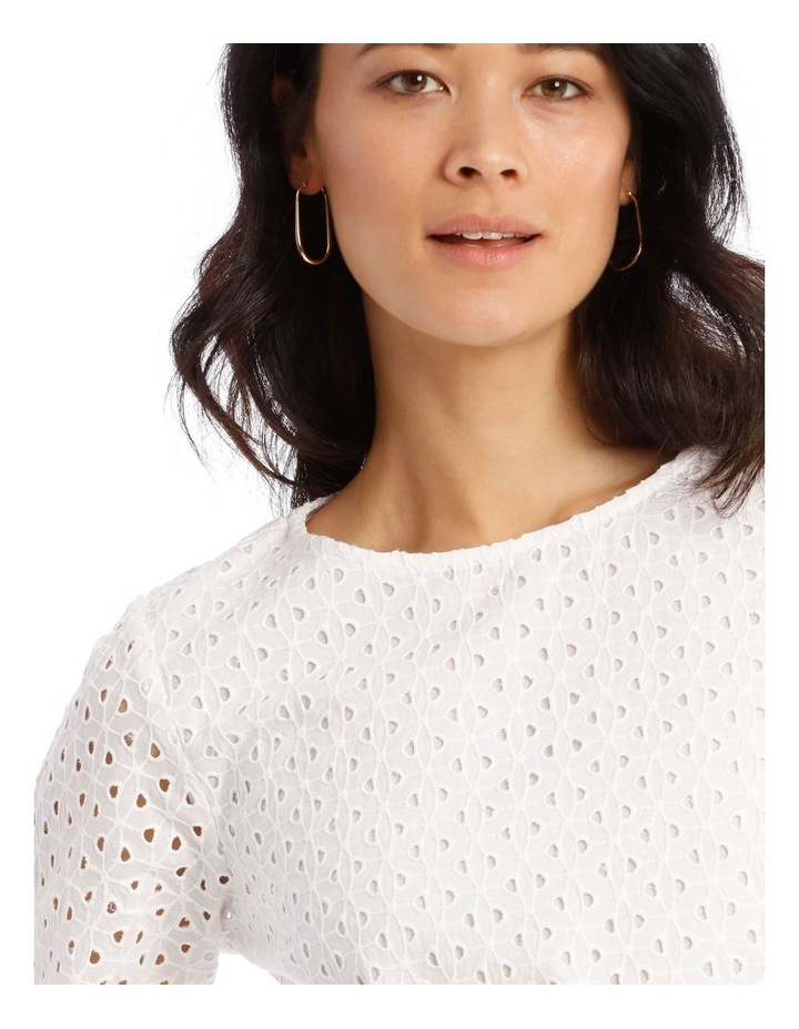 3/4 Puff Sleeve Broderie Top image 5