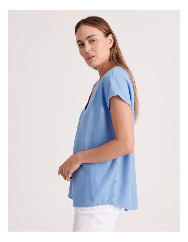 V-Neck Front & Back Short Sleeve Top image 3