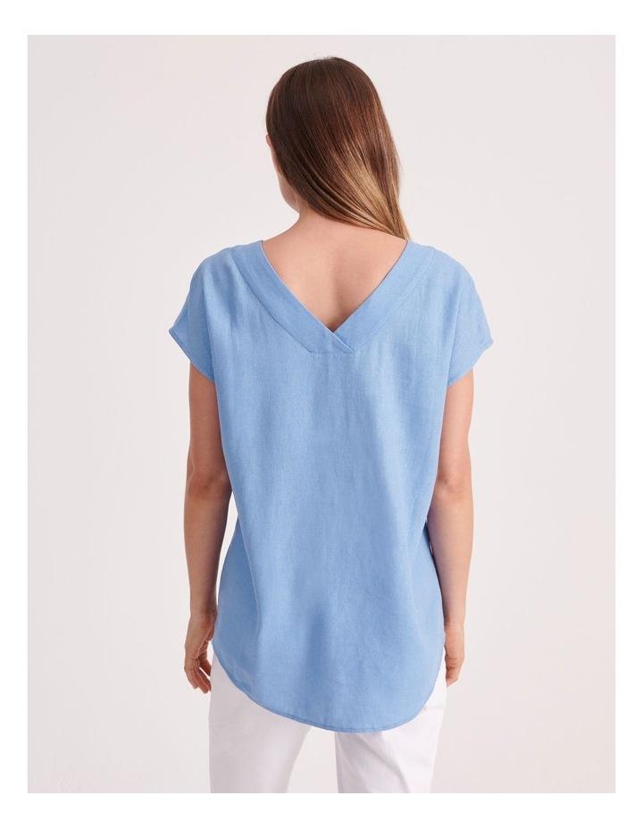 V-Neck Front & Back Short Sleeve Top image 4