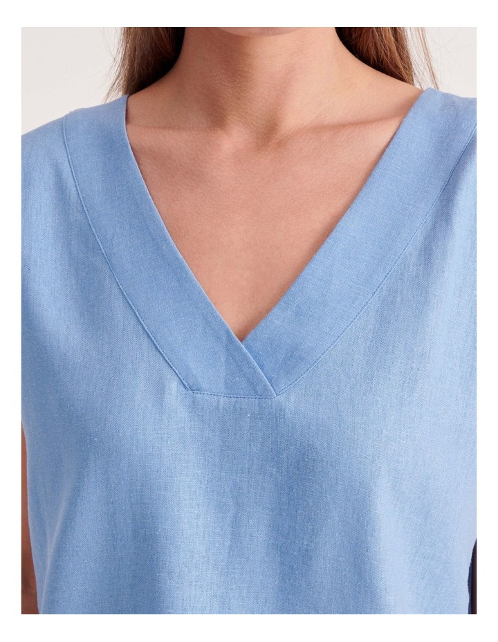 V-Neck Front & Back Short Sleeve Top image 5