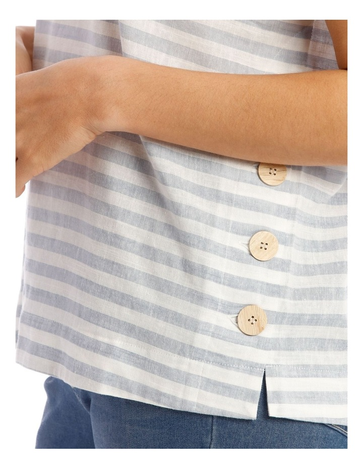 Short Sleeve Top With Button Sides image 4