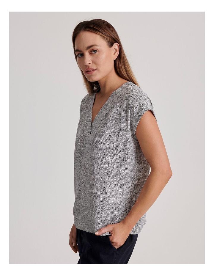 V-Neck Short Sleeve Top image 3
