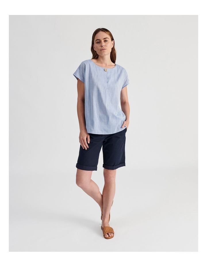 Extended Sleeve Button Neck Top image 2