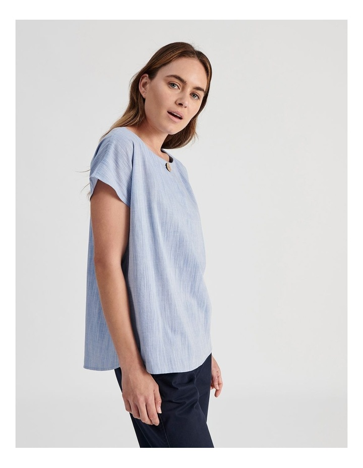 Extended Sleeve Button Neck Top image 3
