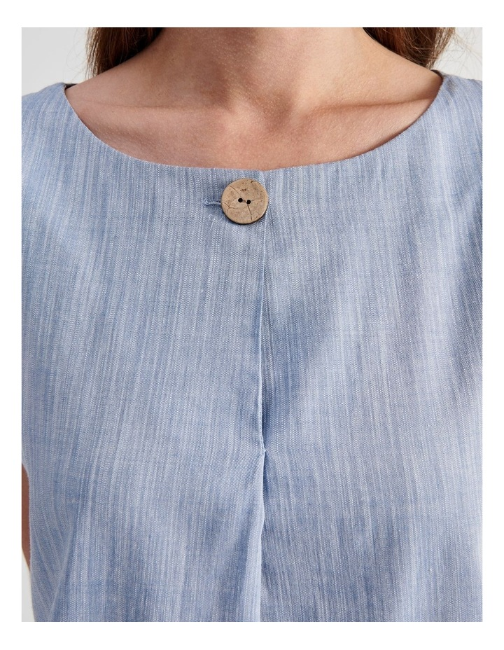 Extended Sleeve Button Neck Top image 5