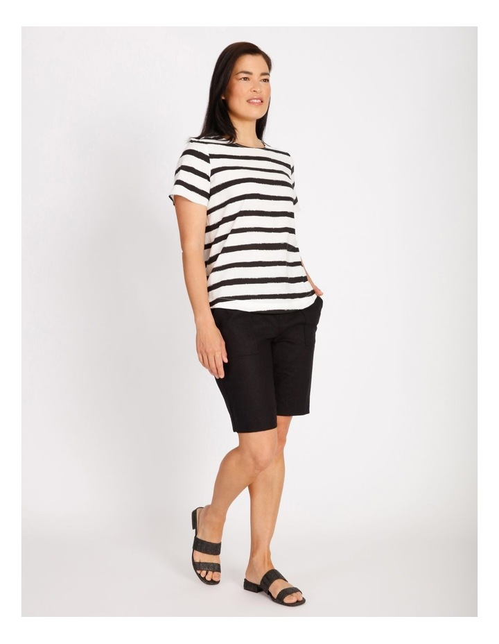 Etched Short Sleeve Top With Side Splits image 2