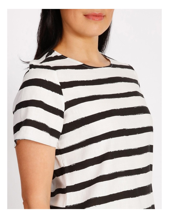 Etched Short Sleeve Top With Side Splits image 4