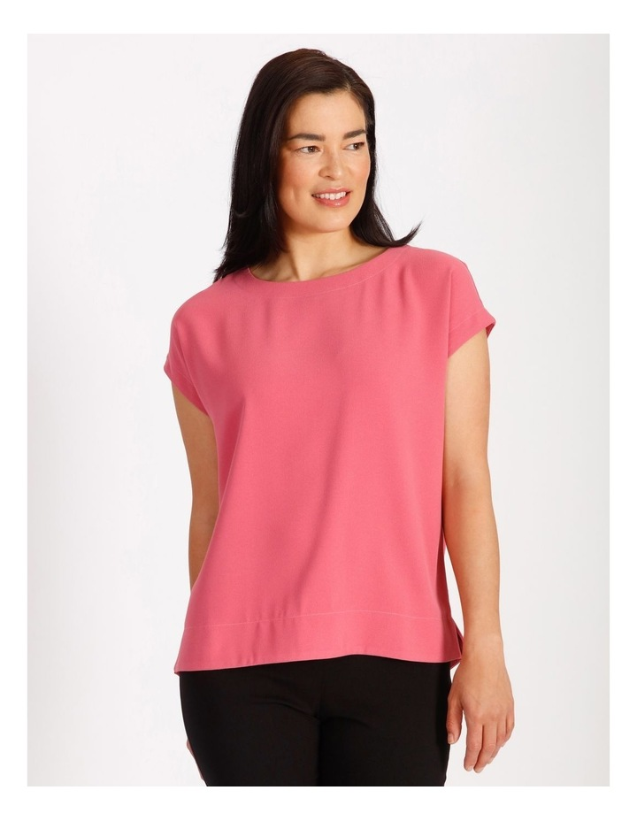 Etched Short Sleeve Dropped Shoulder Boxy Top image 1