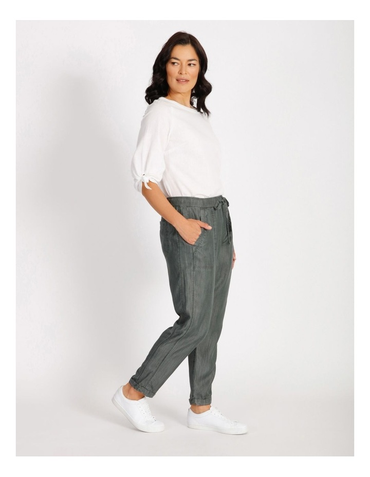 Elastic Waist Pant With Side Panels And Cuff image 2