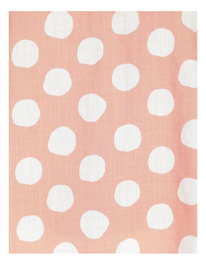 Spot 3/4 Rolled Raglan Sleeve Top Pink/Ivory image 7