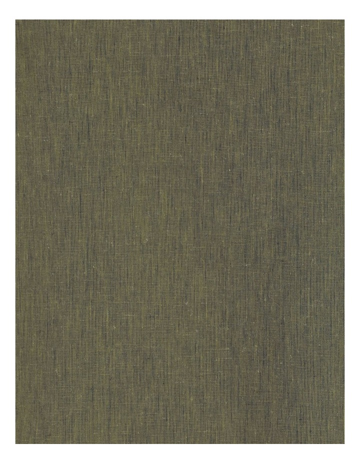 Fluted Short Sleeve Top Khaki/Navy Crossdye image 7