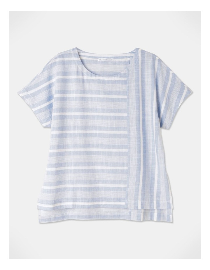 Multi Directional Stripe Ss Magyar Top Blue/White image 1