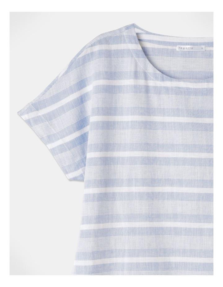 Multi Directional Stripe Ss Magyar Top Blue/White image 2