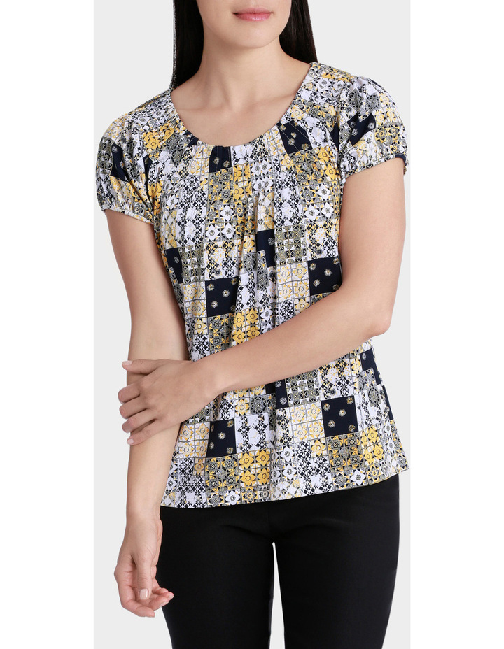Patchwork Tile Grace Short Sleeve Tee image 1