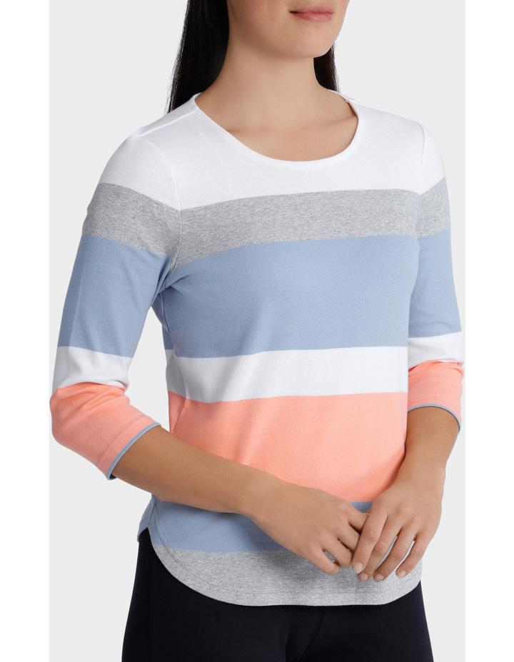 Deep Stripe 3/4 Sleeve Tee image 2