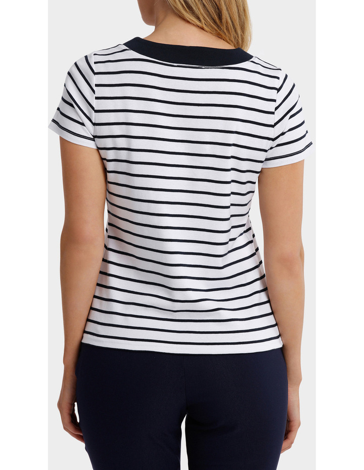 Essential Duo Stripe Short Sleeve Tee image 3