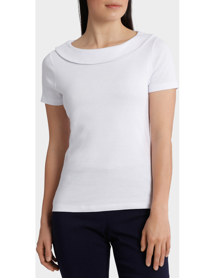 Essential Fold Neck Short Sleeve Tee image 1