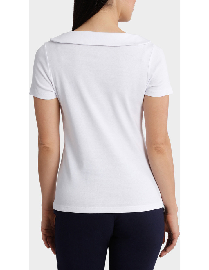 Essential Fold Neck Short Sleeve Tee image 3