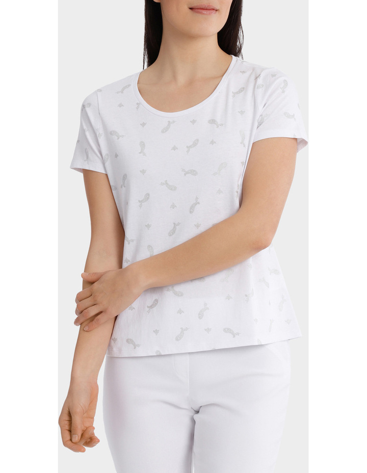 Essential Cotton Foil Short Sleeve Tee image 1