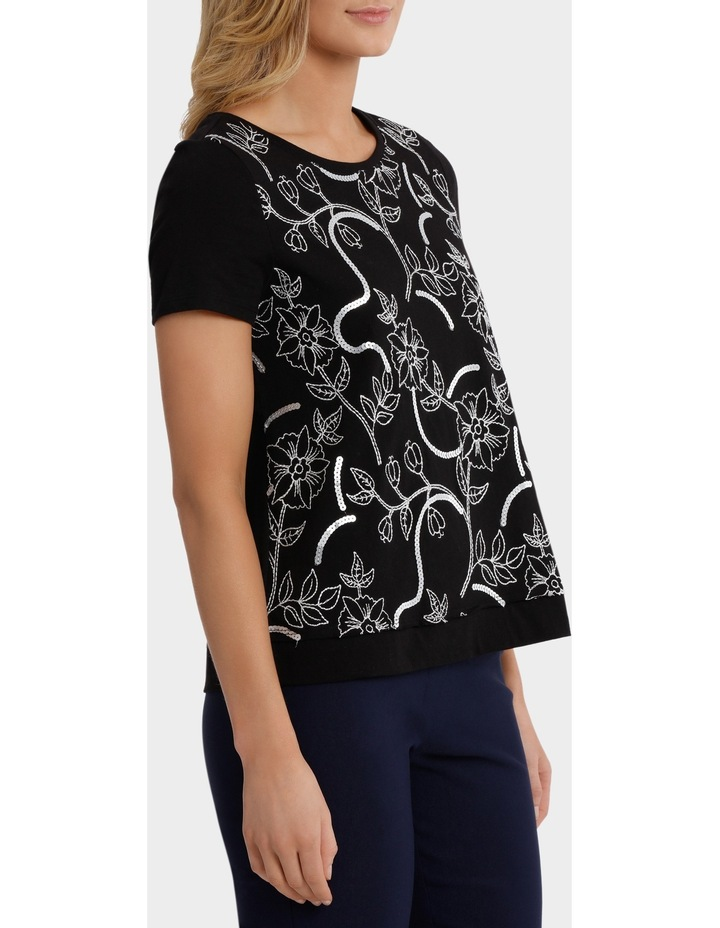 Sequin Embroided Short Sleeve Tee image 2