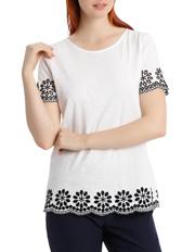 Regatta Petites - Contrast Embroidered Short Sleeve Tee