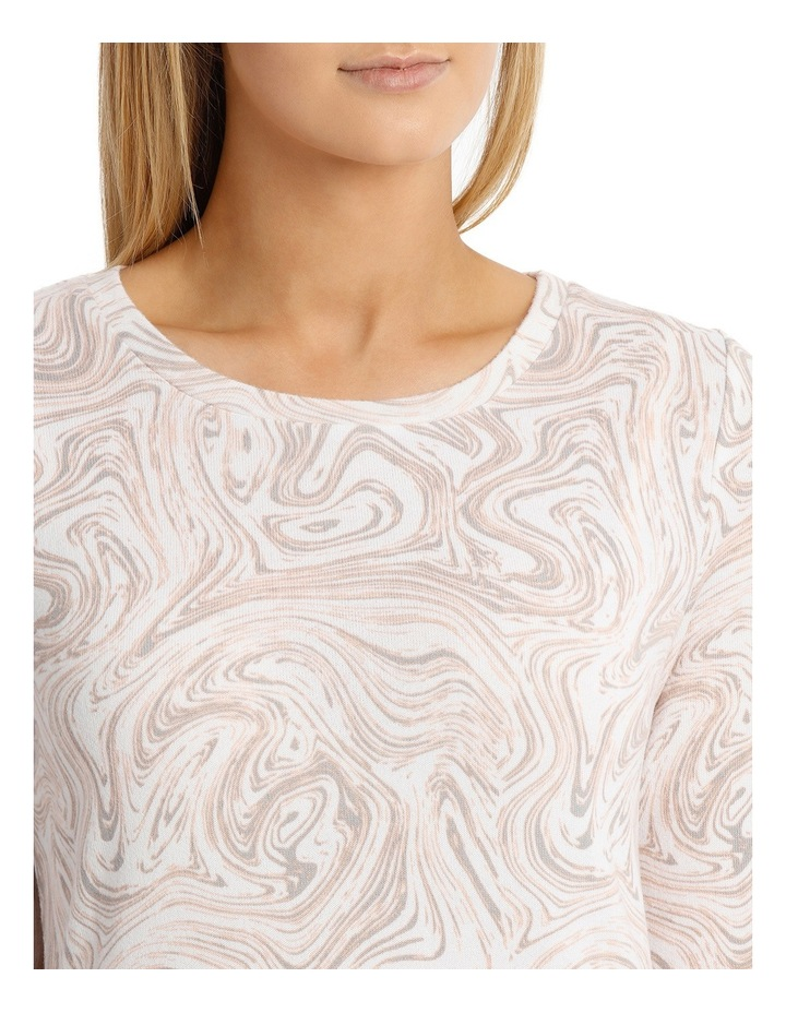 Marble Print Soft Touch 3/4 Sleeve Tee image 4