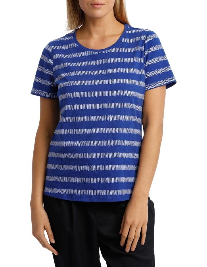 Essential Short Sleeve Tee Matchstick Stripe image 1