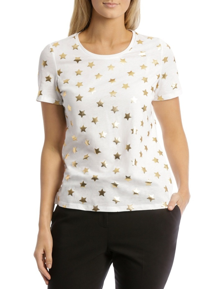Essential Short Sleeve Tee White/Gold Foil Star image 1