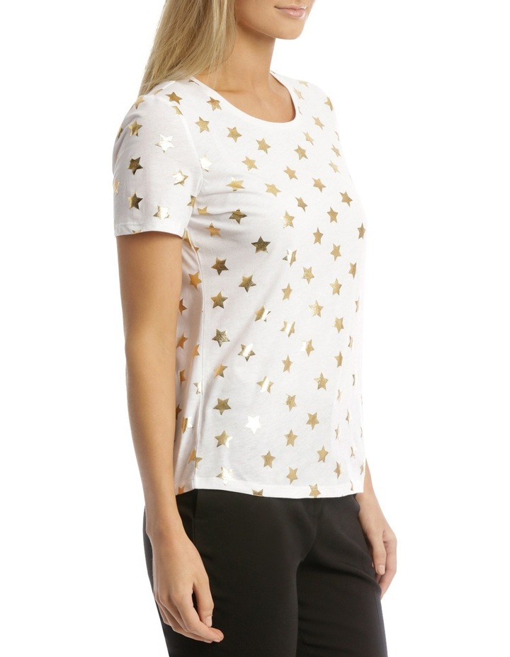 Essential Short Sleeve Tee White/Gold Foil Star image 2