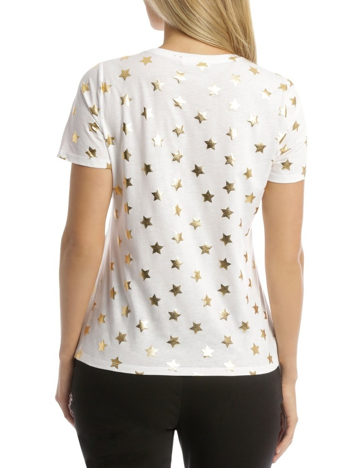 Essential Short Sleeve Tee White/Gold Foil Star image 3