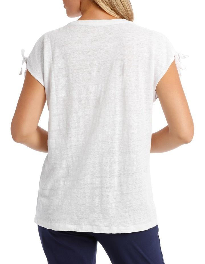 Linen Blend Rouched Shoulder Detail Tank image 3