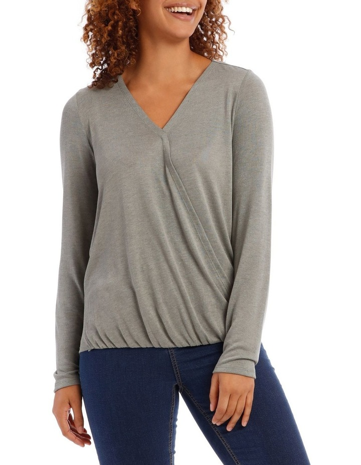 Cross Over Front Long Sleeve Marle Tee by Regatta Petites