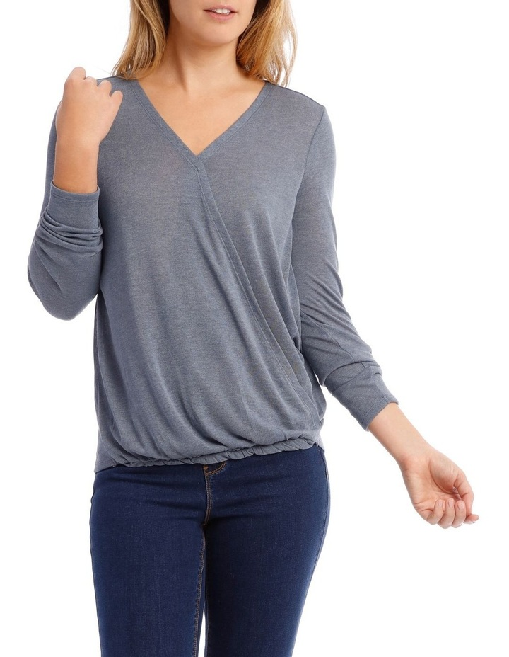 Cross Over Front Long Sleeve Marle Tee image 1