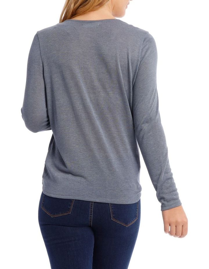Cross Over Front Long Sleeve Marle Tee image 3