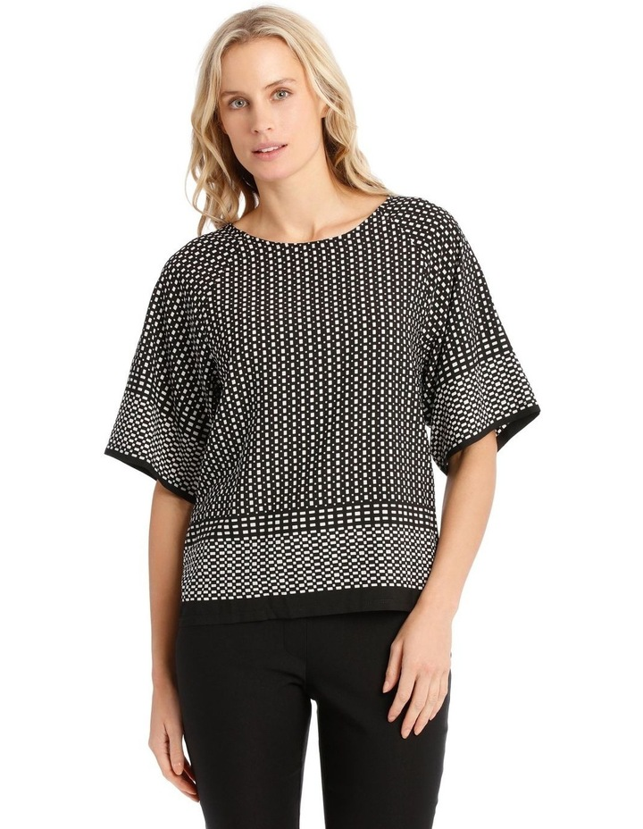 Short Sleeve Woven Front And Sleeve Tee image 1