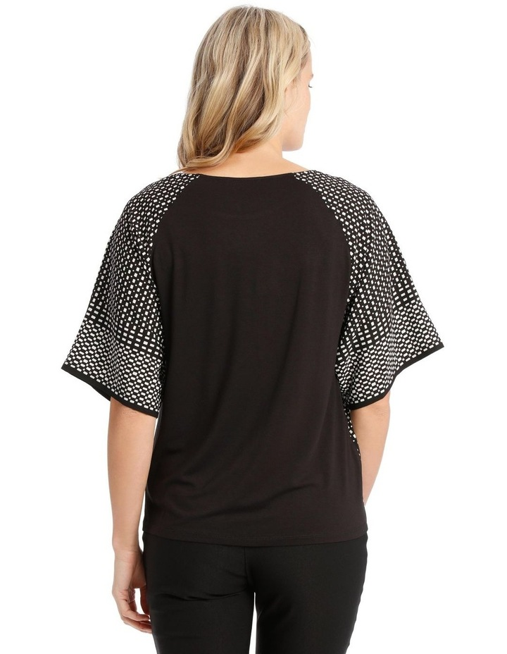 Short Sleeve Woven Front And Sleeve Tee image 3