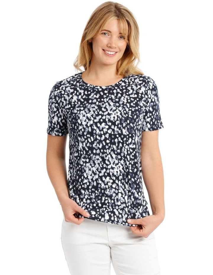 Cowl Neck Extended Short Sleeve Burnout Tee image 1